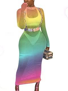 Women Guaze Mesh See Through Bikini Cover Up Beach Club Dress