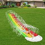 DaFei Tobogan Infantil Exterior Agua,475cm Tobogan para Piscina Verano Juguetes Jardin Agua Barriga Tobogan para Piscina Inchable