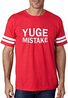 Tstars - Yuge Mistake Funny Political Protest Anti Trump Football Jersey T-Shirt