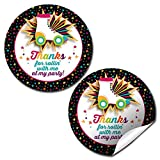 Roller Skating Birthday Party Thank You Sticker Labels, 40 2' Party Circle Stickers by AmandaCreation, Great for Party Favors, Envelope Seals & Goodie Bags