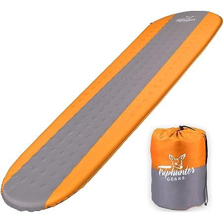 Colchoneta autoinflable ligera - Acolchado de espuma compacto impermeable - Mejor para camping, senderismo, mochila - Grueso 3.81 cm para un sueño cómodo – Colchón aislado de camping