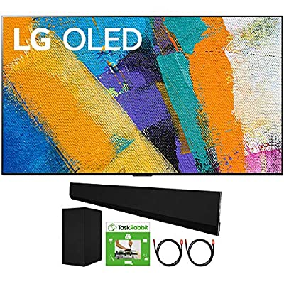 "LG OLED65GXPUA 65"" GX 4K Smart OLED TV with AI ThinQ (2020) Bundle GX 3.1 ch High Res Audio Soundbar with Wireless Subwoofer Dolby Atmos, TaskRabbit TV Installation Voucher and 2X HDMI Cable from LG"