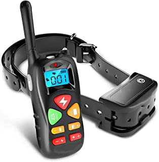 HWZQHJY Shock Collar for Dogs - Dog Training Collar with Remote Control 1000 feet - Rechargeable and Upgraded IP67 Waterpr...