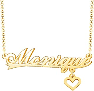 Best Customized Heart Pendant Custom Jewelry for Her Personalized Monique Name Necklace Review