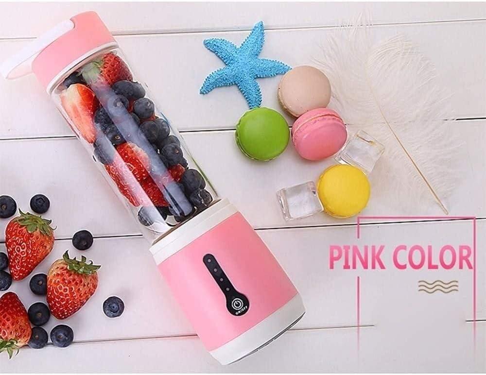 QJL_ANA USB Electric Safety Juicer Cup mini blender Fruit Juice Mixer, Mini draagbare oplaadbare/Sap Mengen Crush Ice Blender Mixer (Color : Pink) Green