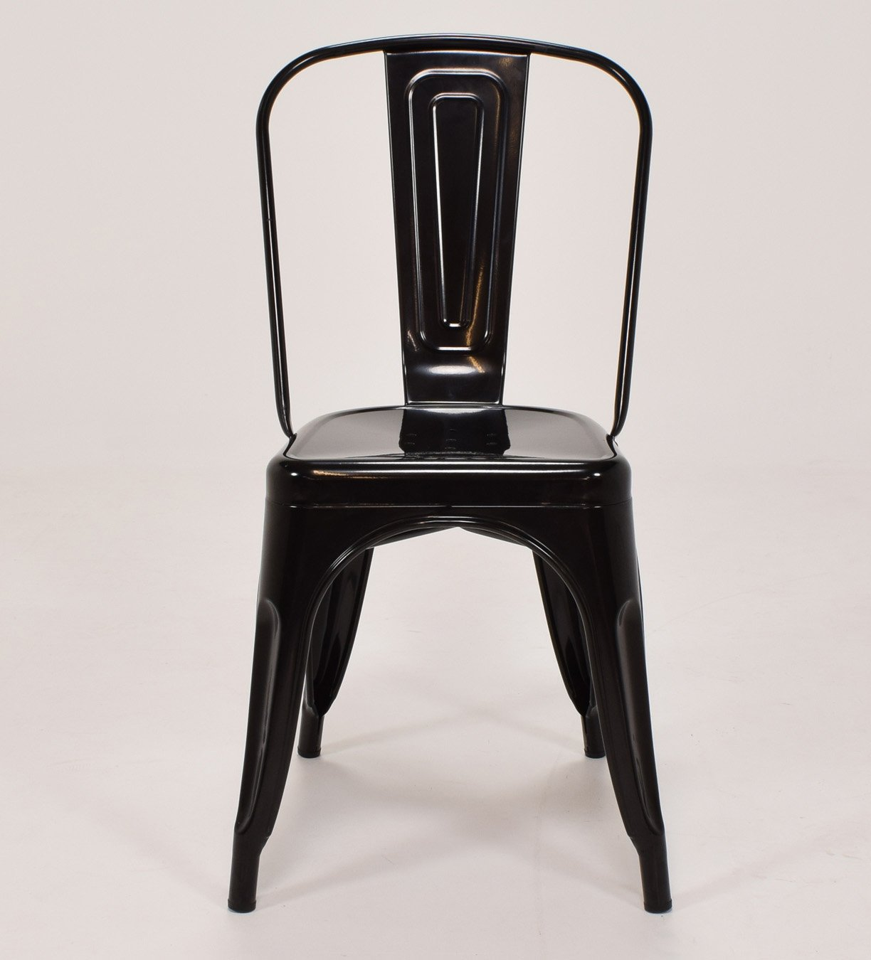FWH-Direct Tolix Style Vintage French Cafe Chairs in Black