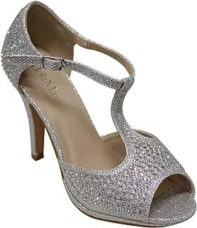 rhinestone t strap heels