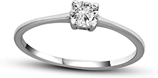 Luxury Diamond Rings for Women Natural Diamond Rings 1/4-3/4 Ct I2-I3, HI Quality 10KT-14KT Gold 100% Real Diamond Solitaire Rings
