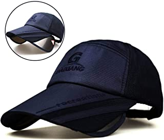 Baseball Cap Hat Men's Summer Retractable Sun Hat Ms Sunscreen Fishing Cold Sun Hat Outdoor Baseball Cap