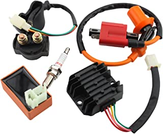 GOOFIT AC Racing Ignition Coil 6 Pin CDI Voltage Regulator Rectifier Solenoid Relay for CG 125cc 150cc Vertical Engine ATV Quad Go Kart