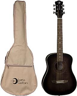 Luna Guitars 6 String Acoustic Guitar, Right (SAF ART V)