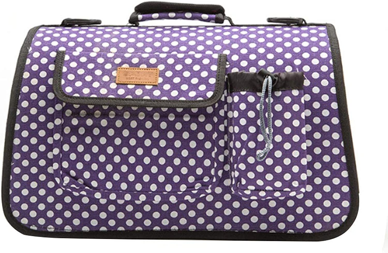 GWM Pet Backpacks Pet Supplies Small Dog Out Pack Portable Adjustable Tote Bag (Purple) 53  23  29cm (Size   S)