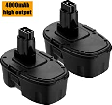2PACK DC9098 Battery 4.0Ah replacement for Dewalt 18 Volt Battery XRP DE9096 DE9098 DW9095 DW9096 DW9098 DE9503 DC9099 DE9039 DE9095 Compatible With 18V Cordless Power Tools