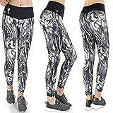 Formbelt® Damen Sport-Leggings schwarz weiß mit Tasche