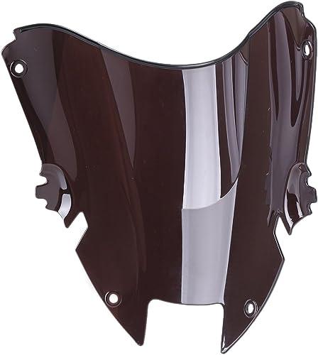 Mallofusa New Motorcycle Windshield Windscreen Compatible for Honda VTR1000F 1997 1998 1999 2000 2001 2002 2003 2004 2005 Black