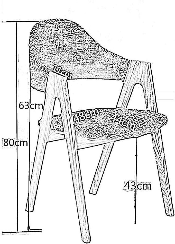 Chaise THBEIBEI Confortables épais Dossier Confortable Pieds en Bois Massif Confort Optimal Poids Maximum Facile Dirt X Assemblée Preuve Forme Massifs (Color : Brown) Brown