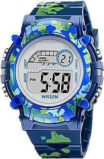 Orologio Bambino ZWRY Orologi per bambini Orologio impermeabile digitale con flash colorato a LED per orologio per bambini