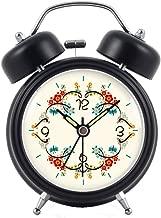 フラワークラスター目覚まし時計ルミナスミュートスリーピーレイジーダブルベルモダンファッションベッドシンプルで美しいクリエイティブパーソナリティホームマルチカラーオプション9CM * 5CM * 12CM CHENGYI (Color : Black)