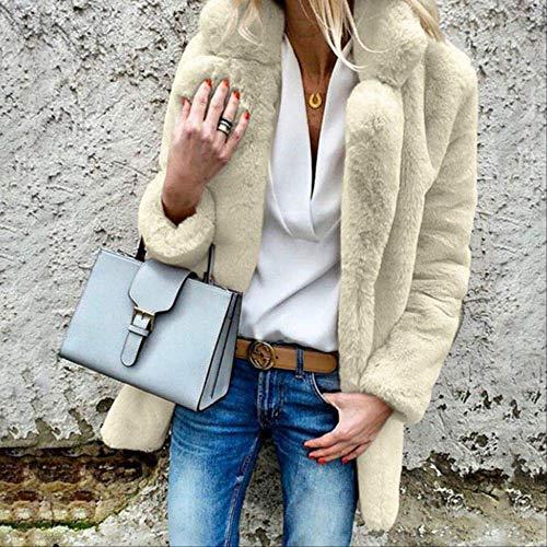 Spring Autumn Basic Jacket Women Designer Warm Fur Coat Female Outwear Plus Size pi Women Cardigan Coat Clothes DR672 M Apricot