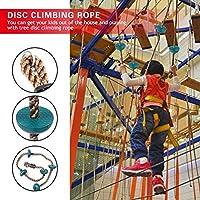 遊び場クライミングロープ、エンターテイメント楽しいクライミングディスククライミングロープ、物理的なゲーム、屋外パーティー、子供のおもちゃ、屋外ゲーム(Green)