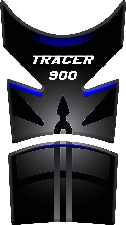 Tankpad Motorad Draht Muster Tankschutz Polymer Kompatibel Yamaha Tracer 900 Black Blue Auto