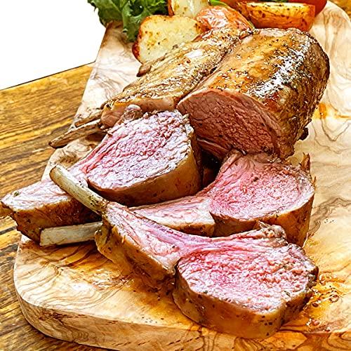グルメソムリエ ラム肉 ロース ニュージーランド産 グラスフェッド 骨付き 羊肉 仔羊 赤身 (ラムフレンチラック・キャップオフ2枚入り×2パック)