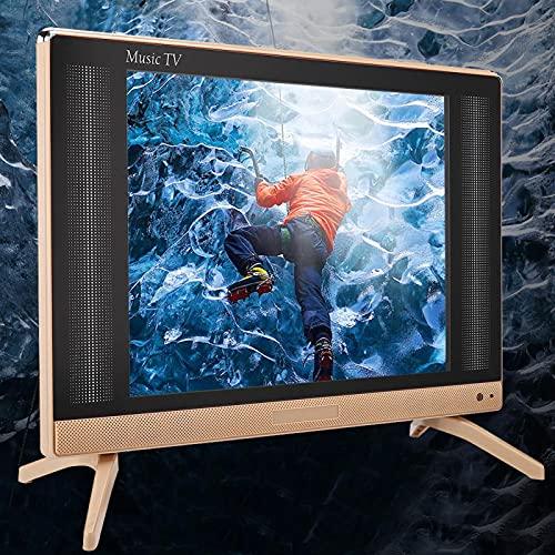 Mxzzand TV LCD da 24 Pollici Mini TV Portatile Mini TV Portatile per presentazioni Chiare Nessuna operazione complessa(European regulations)