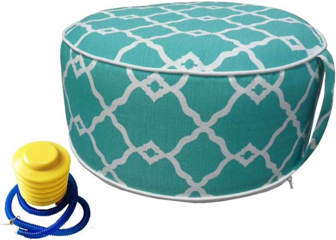 Inflatable Ottoman footrest Stool with Pump Max 67% OFF air Sto Portable New mail order and