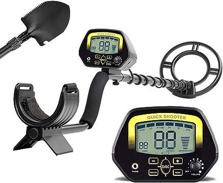 HUKOER Detector de Metales MD3030 Detector Profesional liviano de Alta sensibilidad de búsqueda en Oro,