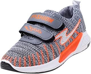 Hopscotch Boys and Girls PU Athletic Shoes - Gray