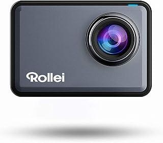Rollei Actioncam 560 Touch-Cámara de acción WiFi Resistente al Agua (4k 60 FPS) Cámara Deportiva con Pantalla táctil Filtro subacuático Objetivo Gran Angular de 160° p. Disparos a intervalo