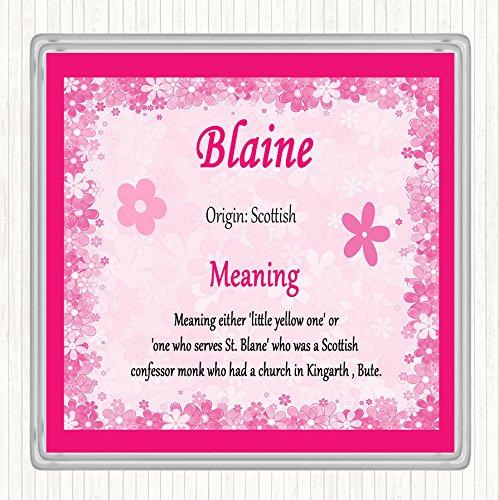 Blaine Naam Betekenis Dranken Mat Coaster Roze