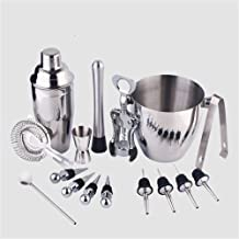 Cocktail Mixing Set Cocktail Set,Cocktail Making Set with Stand Cocktail Shaker Set Stainless Steel Bar Tool Set Bartender...
