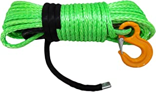 12mm* 30m kevlar cable del cabrestante,Synthetic Winch Rope for ATV UTV Spares Parts,Replacement Winch Cable (verde)