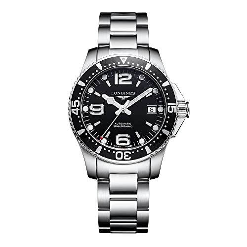Longines HydroConquest Black Dial Automatic Mens Watch L3.741.4.56.6