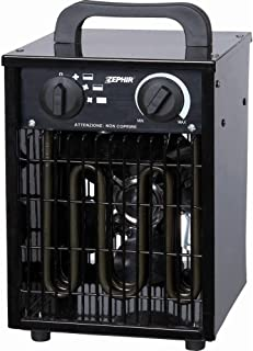 Zephir ZFH30C - Calefactor (Calentador de ventilador, Exterior, Piso, Negro, 3000 W)