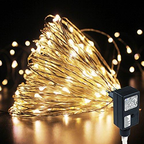 PMS, Catena di luci con filo in rame, 8modalità, luci LED, per Natale, patio, matrimoni, feste, decorazione del giardino
