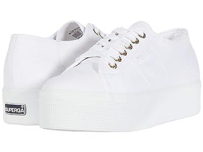 Superga 2790 Acotw Platform Sneaker (White/Gold) Women