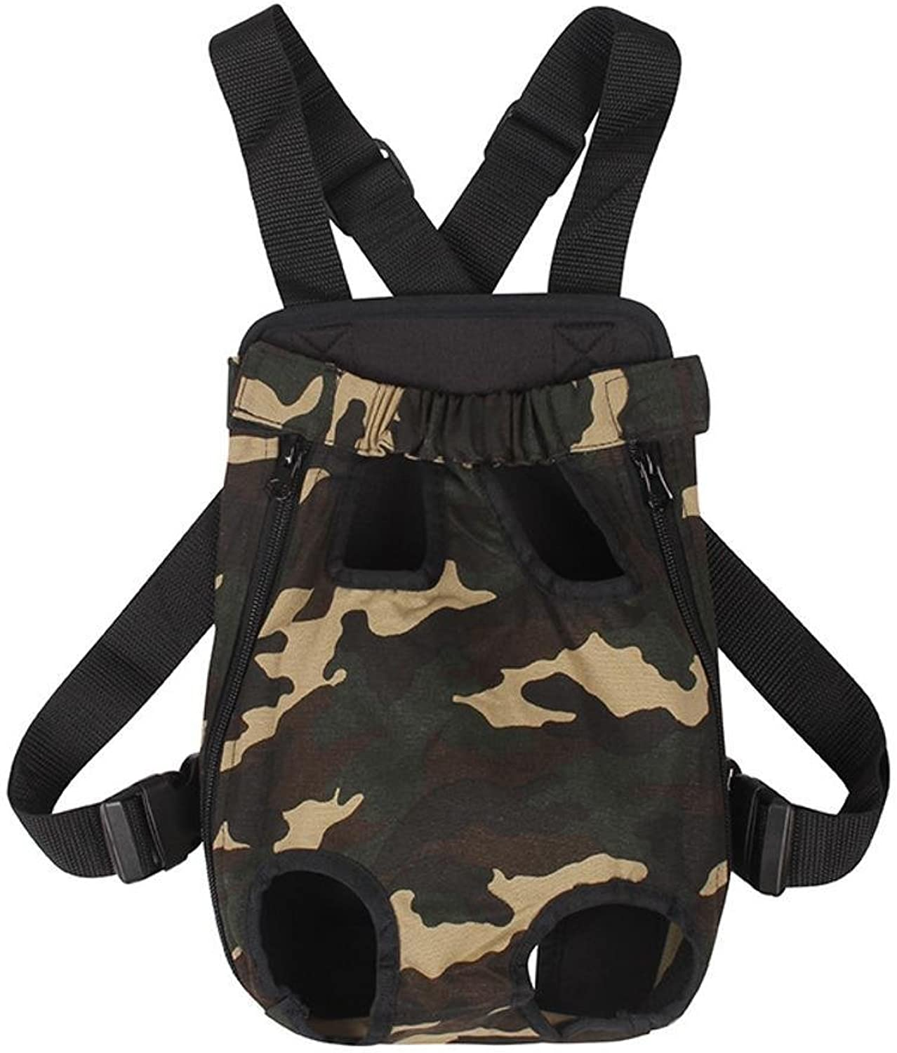 Aoligei Camouflage Chest Pet Backpack pet Out Backpack Canvas pet Dog Carry Bag