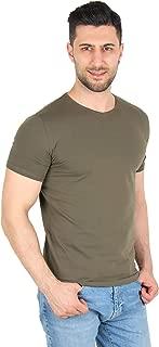 Darkking Haki V Yaka Basic Erkek T-Shirt