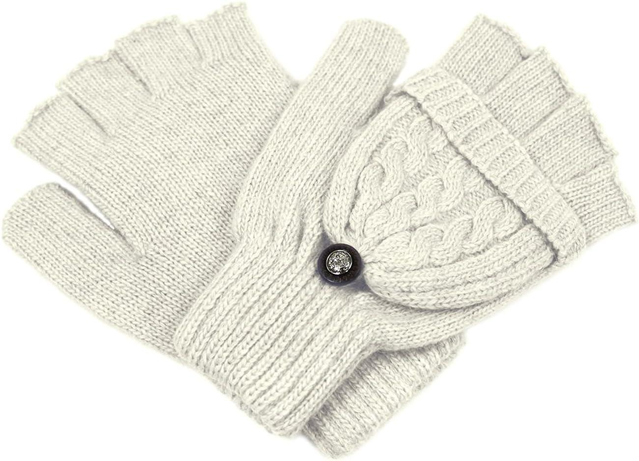Dahlia Womens Gloves & Mittens - Wool Convertible Flip-Top Gloves