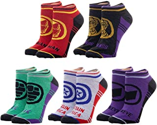 5-Pack Marvel Avengers Socks Multi-Pack Avengers Accessories