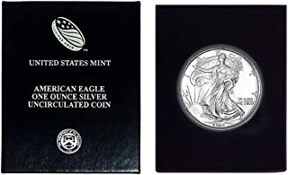 1994 - American Silver Eagle in Plastic Air Tite and Blue Gift Box with our Certificate of Authenticity Dollar Uncirculated Us Mint
