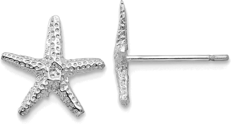 14kt White Gold Starfish Post Earrings