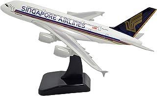 飛行機モデル模型飛行機、エアバスA380シンガポール航空金属飛行機モデル、16cm 1:400飛行機モデル、飛行機愛好家、(飛行機モデル装飾ホリデーギフト)