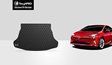 ToughPRO Cargo/Trunk Mat Compatible with Toyota Prius (Without Spare Tire Model Only) - All Weather - Heavy Duty - (Made in USA) - Black Rubber - 2016, 2017, 2018, 2019