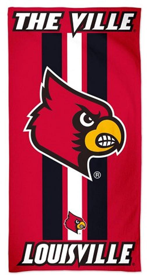 リード戦略センブランスWinCraft University of Louisville Cardinalsファイバービーチタオル、Game DayストライプEdition、30?x 60?cm