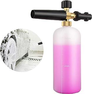 Qooltek justerbar skumkanon 1 liter flaska snöskum lans tvåldispensermunstycke för Karcher K serie K2 K3 K4 K5 K6 K7 högtr...