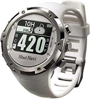 ショットナビ ゴルフウォッチ GPSナビ ゴルフナビ 腕時計型 ホワイト W1-GL