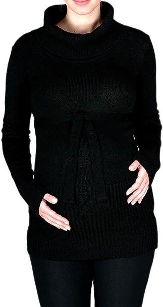 Nero /& Bianco, IT 42//44, One Size Happy Mama 359p Donna Maglione Top pr/émaman Allattamento Avvolgerlo a Strato